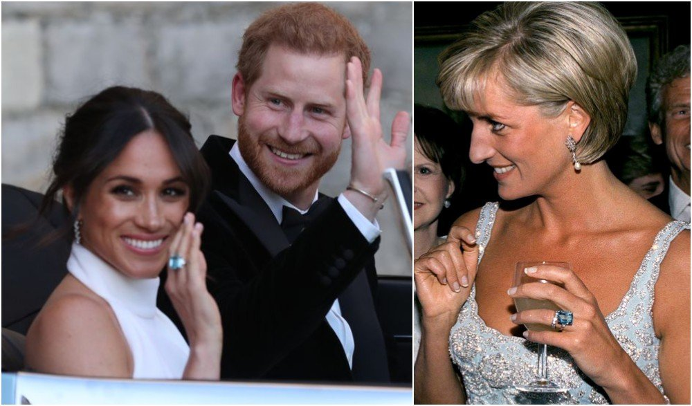 harry gave wife meghan a gift from princess diana s jewelry collection harry gave wife meghan a gift from