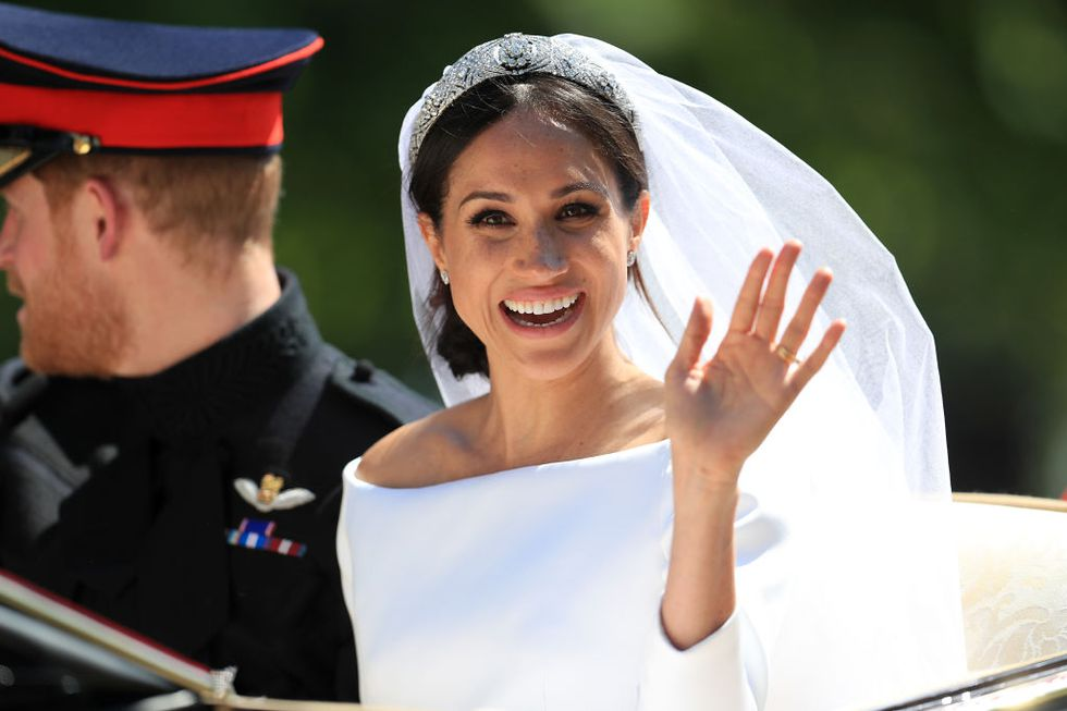 Meghan's natural make-up look for their wedding