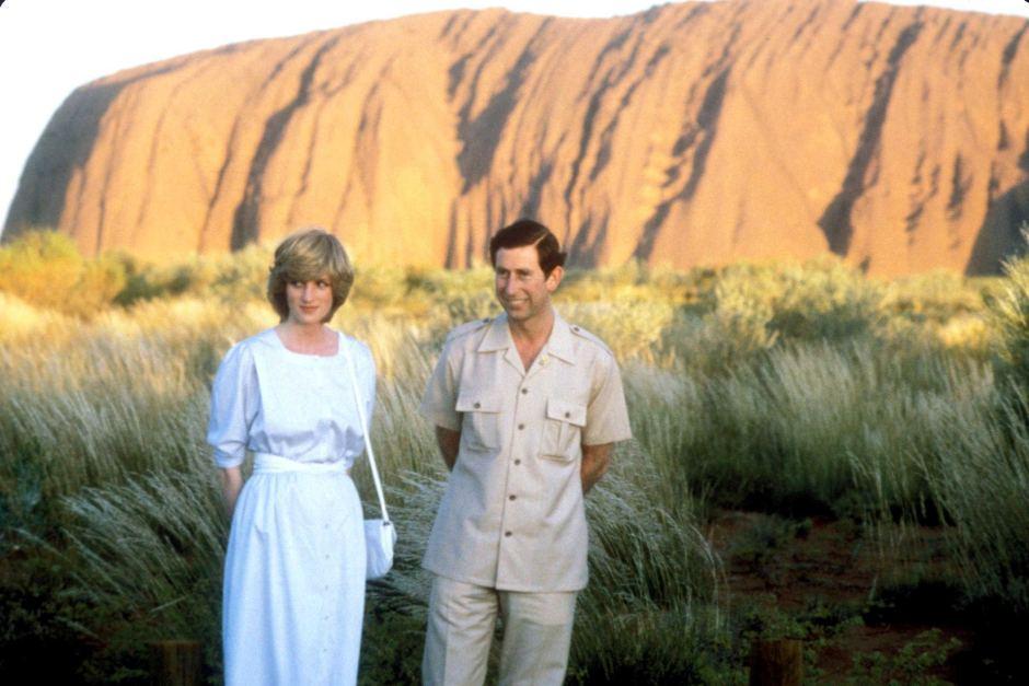 Charles and Diana at Ayres Rock