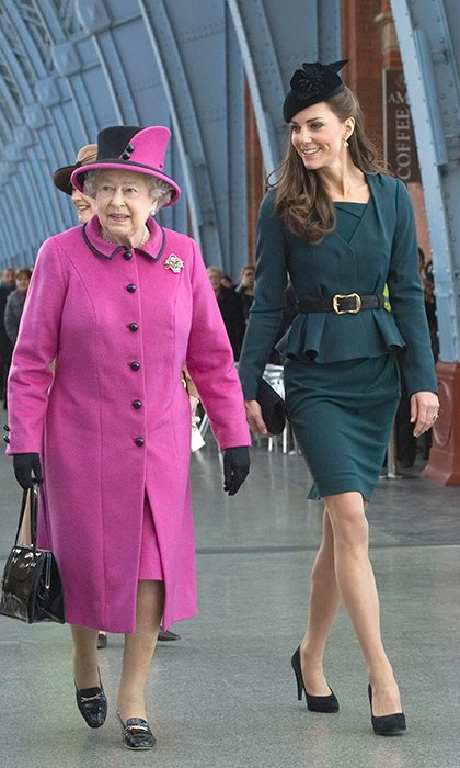 Duchess of Cambridge traveled with Queen Elizabeth