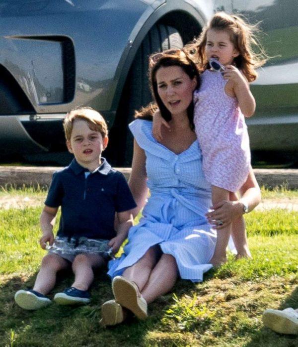 Kate Middleton, Prince George of Cambridge and Princess Charlotte