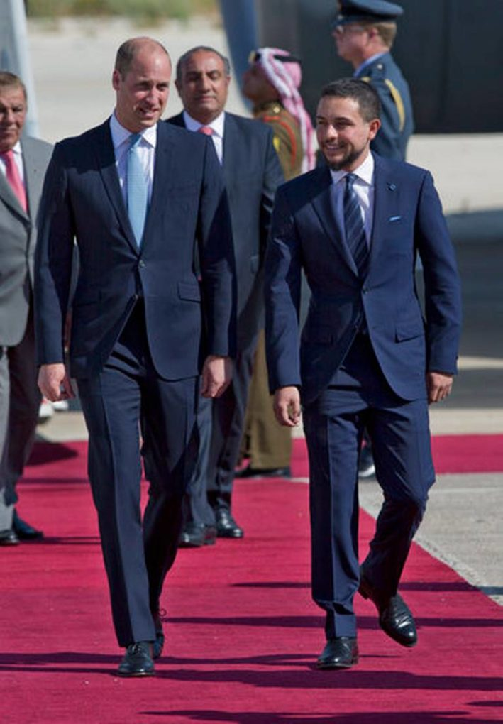 Prince William and Prince Hussein