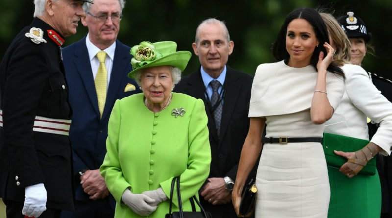 The Duchess of Sussex With The Queen Of England