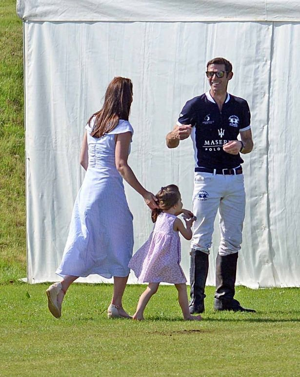 The Duchess was seen catching up with England player Malcolm Borwick