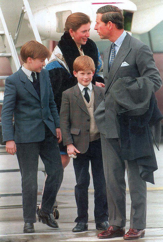 Tiggy, William, Harry and Charles