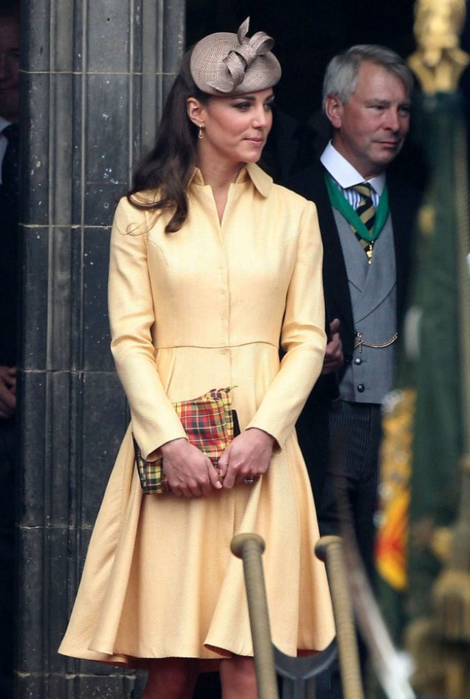 Duchess of Cambridge Kate Middleton to Order of the Thistle ceremony
