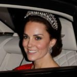 Kate Middleton wearing a dazzling tiara 3