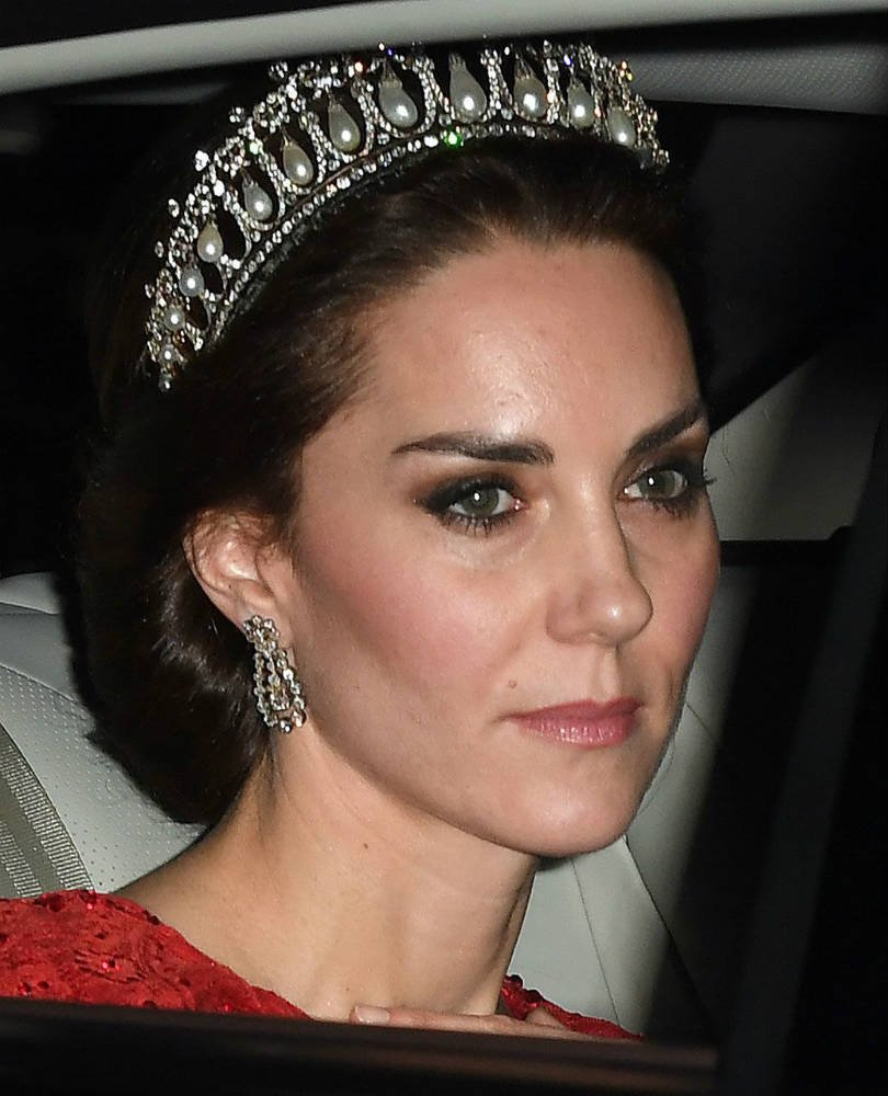 Kate Middleton wearing a dazzling tiara