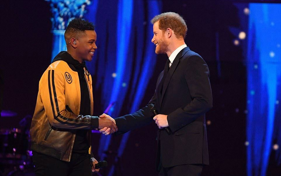 Prince Harry with Donel Mangrna - Queen's 92nd birthday celebrations
