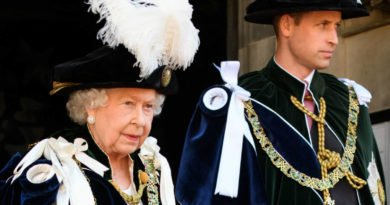 Queen Elizabeth and Prince William at the Order of the Thistle ceremony