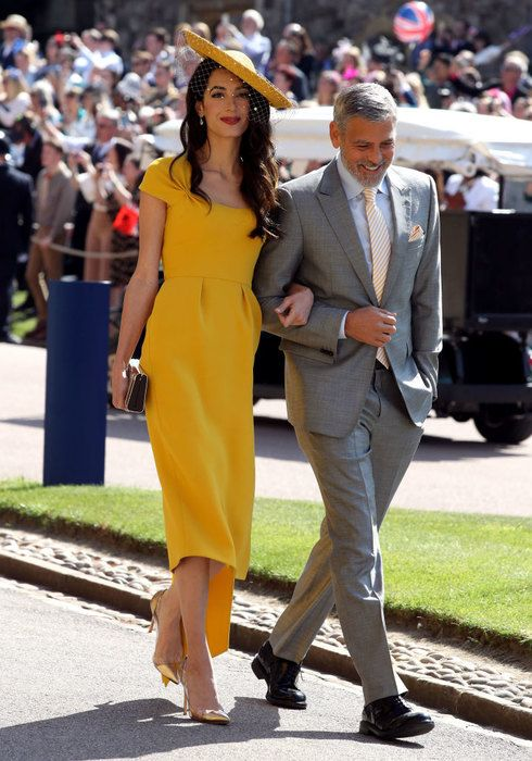 george and amanda clooney on royal wedding