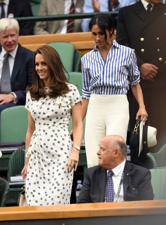 Kate Middleton and Meghan Markle in Wimbledon