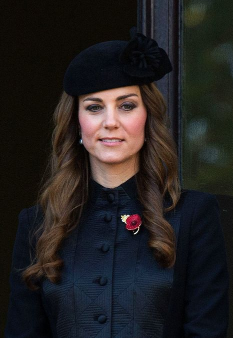 kate middleton at remembrance day