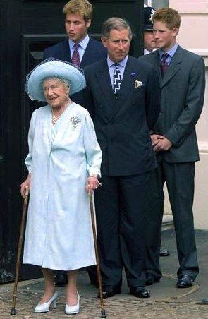 william harry queen mother