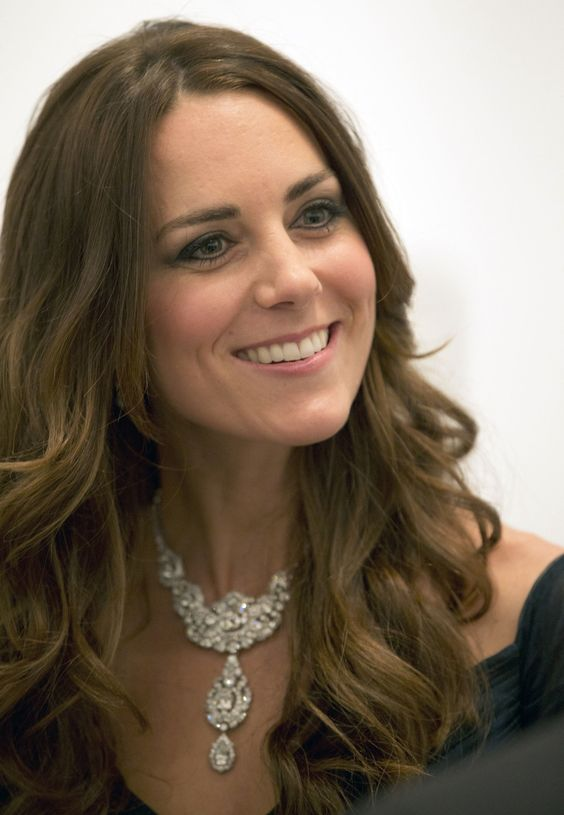 Kate Middleton wore a stunning diamond necklace