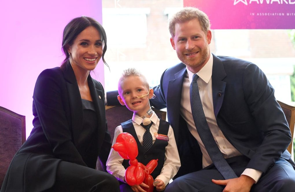 Prince Harry and Meghan Markle Make at the WellChild Awards