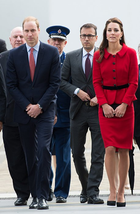Prince William, Kate Middleton and his private secretary Miguel Head
