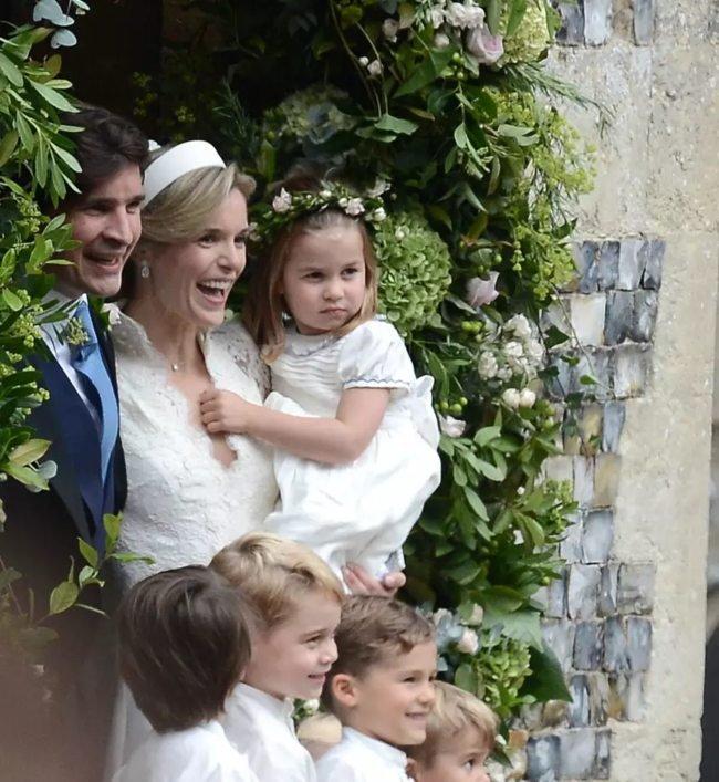 Sophie Carter holding Princess Charlotte