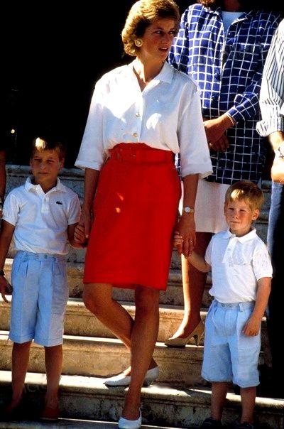 Princess Diana with Prince William & Prince Harry