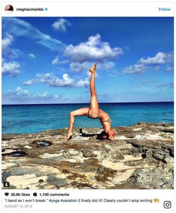 meghan doing yoga