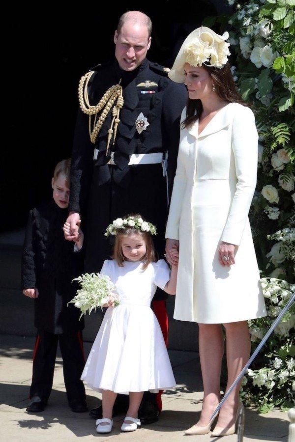 william kate george charlotte wedding