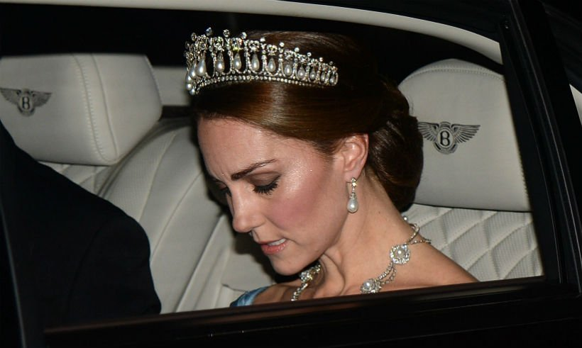 Kate Middleton wears Cambridge Lover's Knot tiara