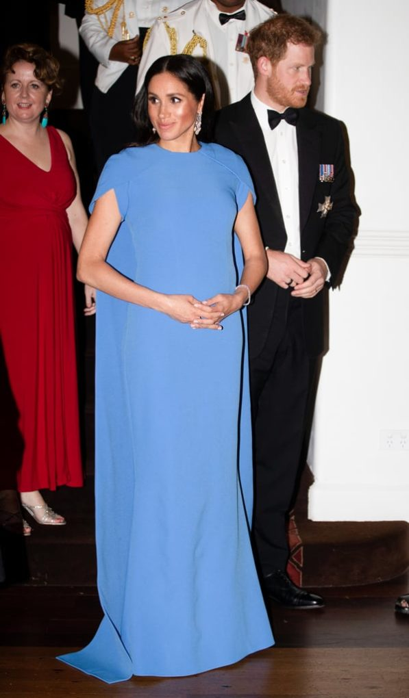 Meghan Markle Blue Safiyaa Dress