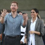 Meghan Markle and Prince Harry in the Rain