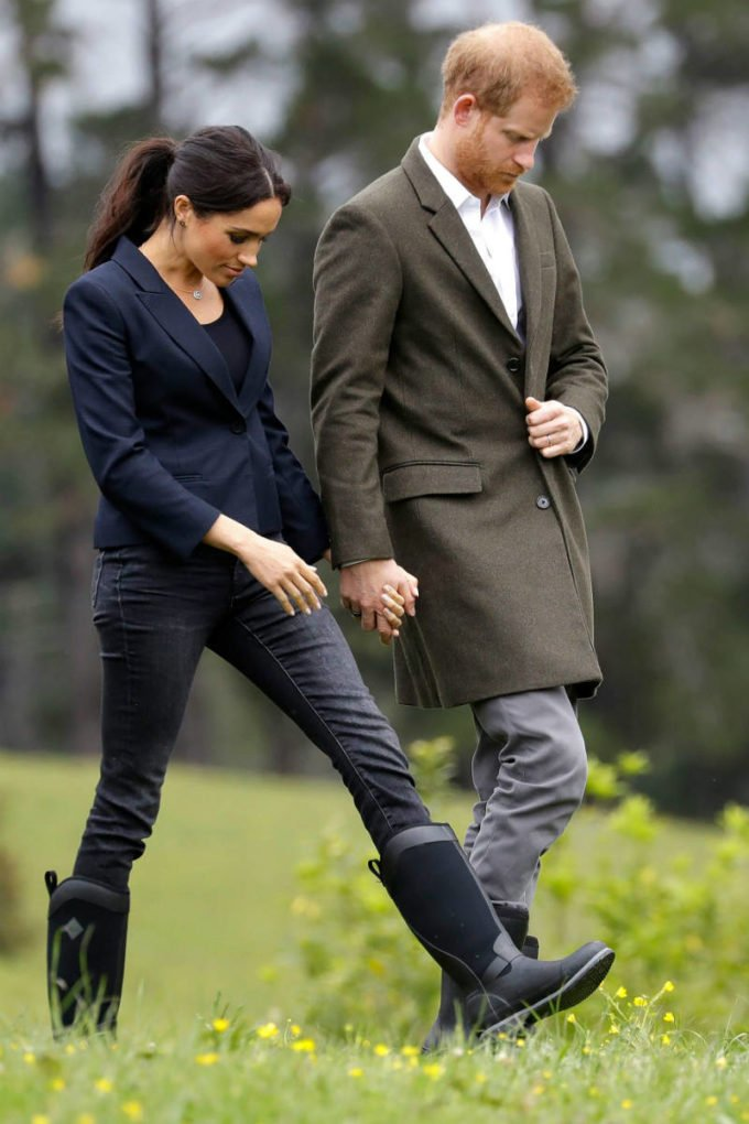 Meghan and Harry holding hands