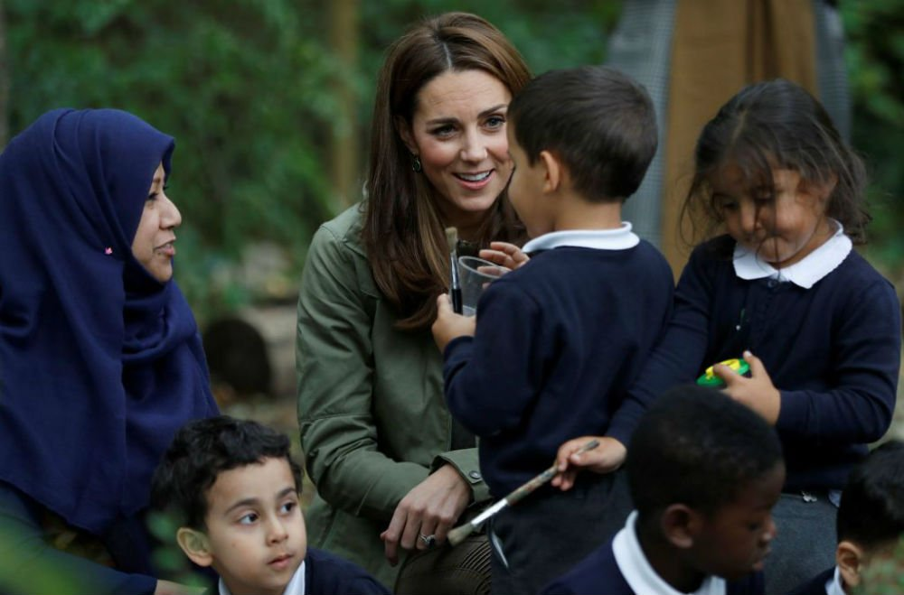The Duchess of Cambridge was visiting the Forest School in Paddington