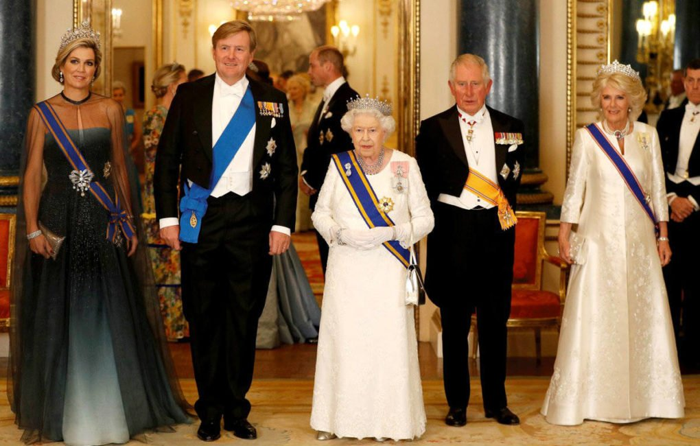 The King and Queen of the Netherlands Her Majesty The Queen The Prince of Wales and The Duchess of Cornwall