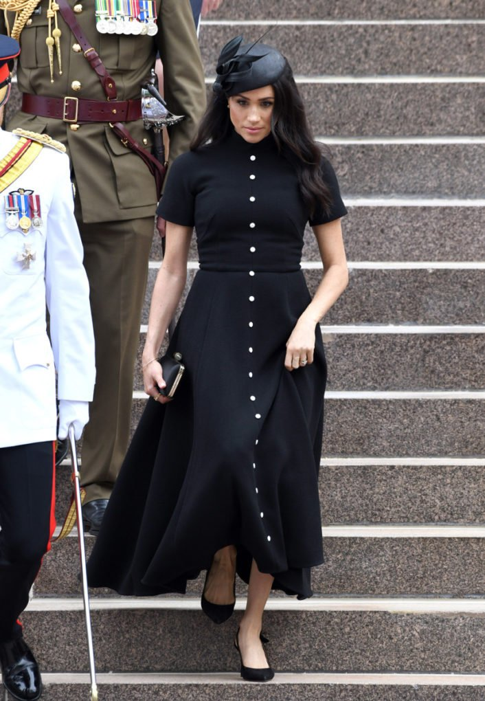 meghan markle black dress.
