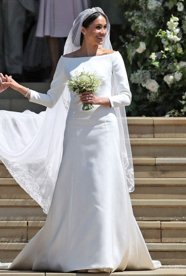 Meghan white wedding dress