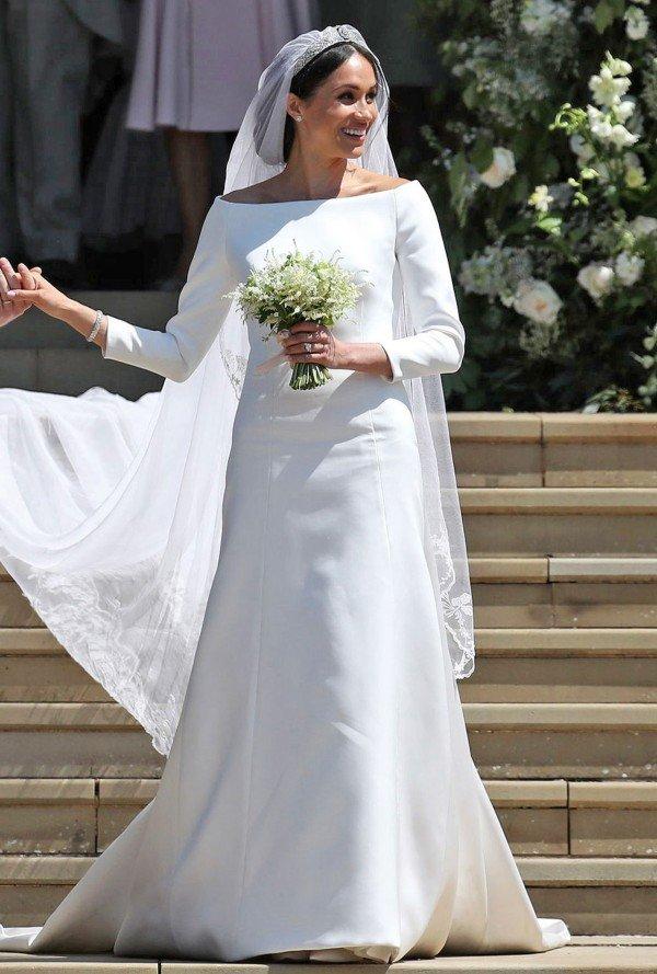 Meghan white wedding dress