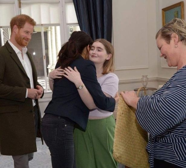 Prince Harry and Meghan met Eva McGauley in New Zealand