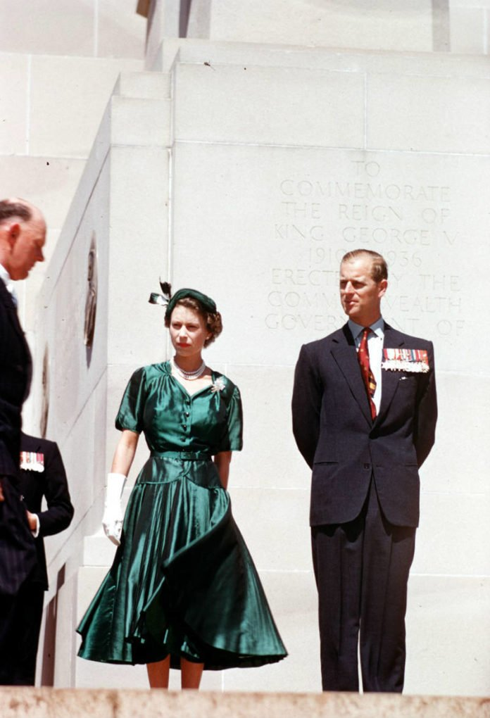 Queen Elizabeth with the Duke of Edinburgh