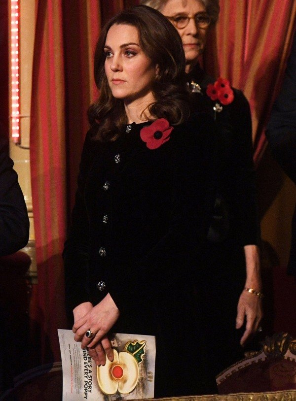 The Duchess of Cambridge attending the annual Festival of Remembrance in 2017