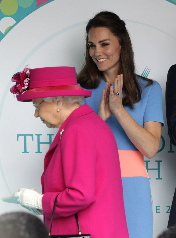 Catherine Duchess of Cambridge and Queen Elizabeth II