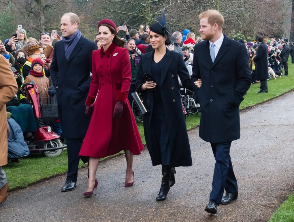Kate Middleton Red Coat on Christmas