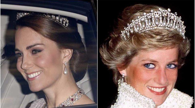 Kate and Diana wear tiara