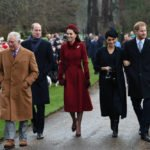 Meghan Harry Kate & William Walk Together At Christmas Day Service at Sandringham