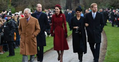 Meghan Harry Kate & William Walk Together At Christmas Day Service at Sandringham