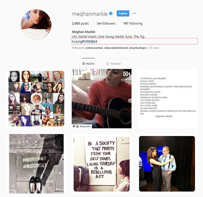 Meghan's Instagram