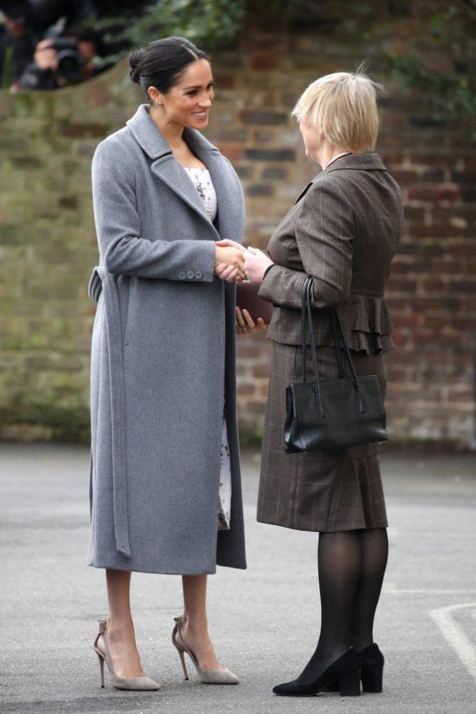 Meghan Markle Visits Royal Variety Residential