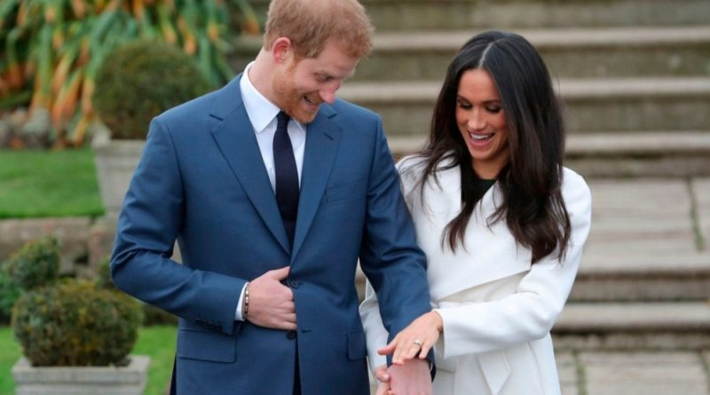 Meghan and Harry touch ring