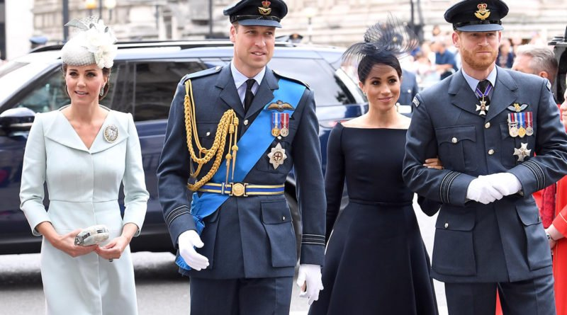 UK Royals Attending the RAF 100 Service at Westminster Abbey