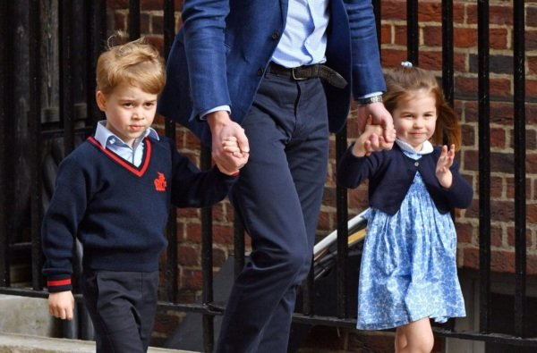 george and charlotte open their presents early