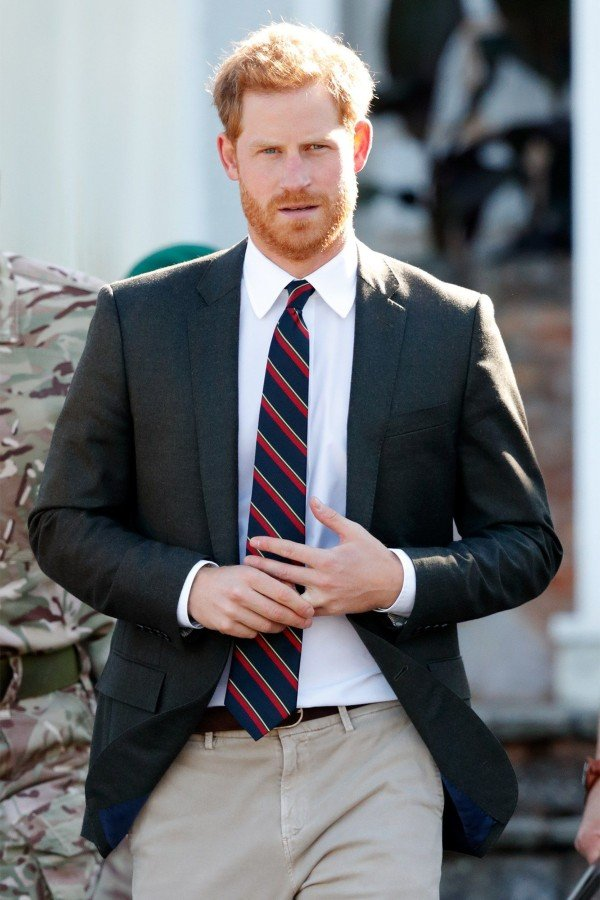 Prince Harry touching his ring
