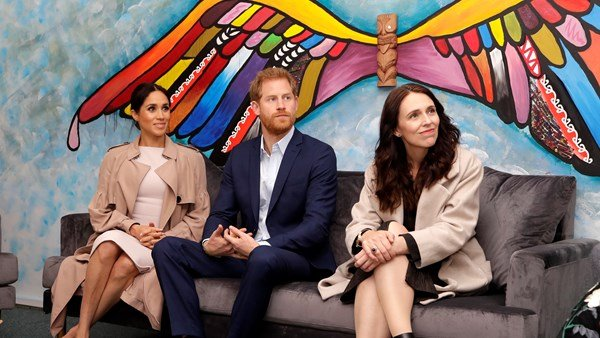 Duke of Sussex, Duchess of Sussex and Jacinda Ardern