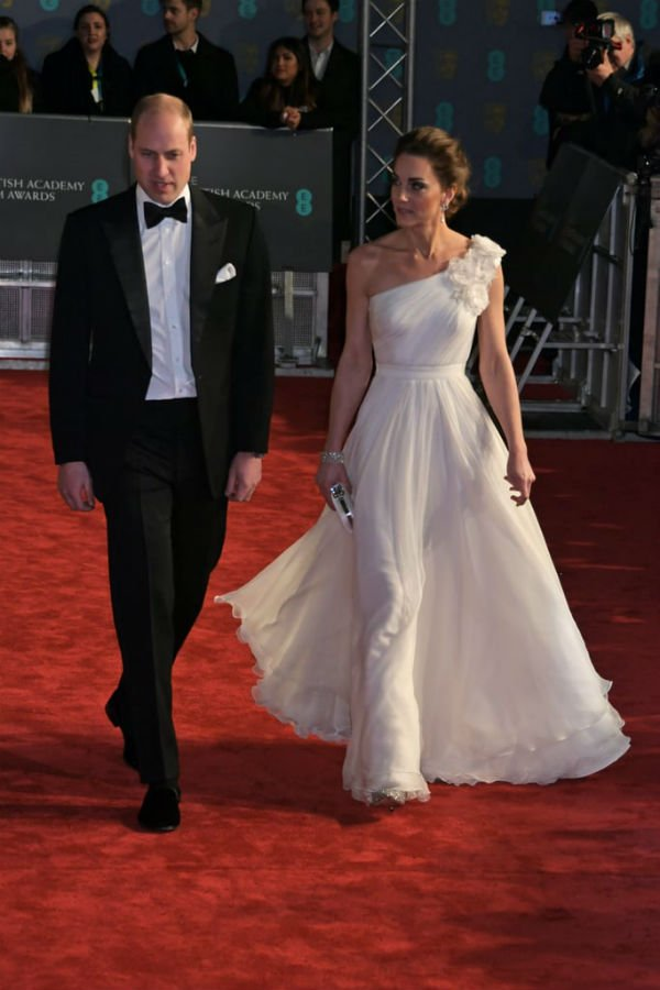Kate Middleton and Prince William at bafta 2019